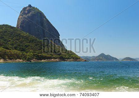 Mountain Sugarloaf  Sea Red Beach (praia Vermelha), Rio De Janeiro, Brazil