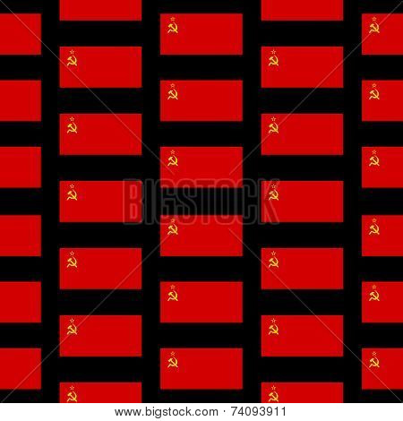 Flag Of The Soviet Union Seamless Pattern