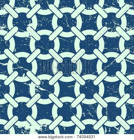 Netting seamless pattern, geometric background with circles intertwined