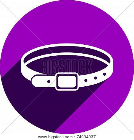 Belt icon isolated. Clothing and accessories theme symbol.