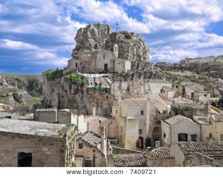 The rock-church of Madonna de Idris. Sassi of Matera.