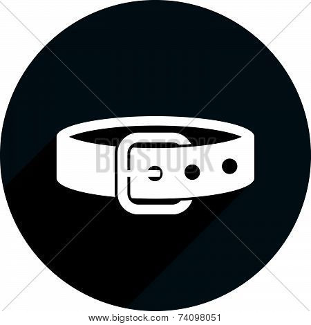 Belt icon isolated. Clothing and accessories symbol