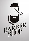 foto of barbershop  - design concept of the logo - JPG
