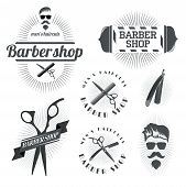 picture of barbershop  - design concept of the logo - JPG