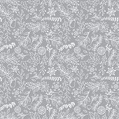 picture of embellish  - Seamless Tileable Christmas Holiday Floral Background Pattern  - JPG