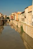 picture of costa blanca  - Old town buildings alongside a canal Orihuela Costa Blanca - JPG