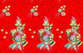 image of batik  - texture of batik cloth fabric for background - JPG