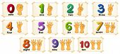 foto of numbers counting  - Illustration of a set of number 1 to 10 - JPG