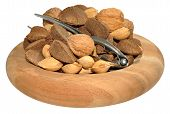 picture of brazil nut  - Mixed nuts including Brazil nuts - JPG