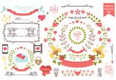picture of bridal shower  - Wedding design template set  in Retro style - JPG
