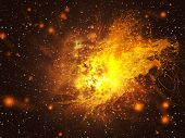 image of big-bang  - Big exploding in the space abstract science background - JPG