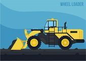 image of wheel loader  - a simple and detail vector of wheel loader  - JPG