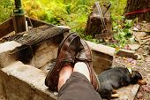 image of loafers  - View of man - JPG