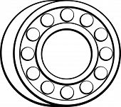 picture of ball bearing  - ball bearing - JPG
