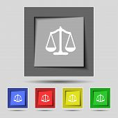 picture of symbol justice  - Scales of Justice sign icon - JPG