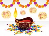 stock photo of dharma  - abstract artistic detailed diwali background vector illustration - JPG