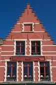 pic of gable-roof  - Red gable roof of the historic house  - JPG