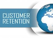stock photo of enticing  - Customer Retention concept with globe on white background - JPG
