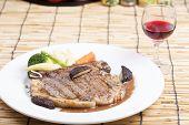 stock photo of t-bone steak  - grilled t - JPG