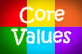 foto of scruple  - Core Values Concept text on background business idea - JPG