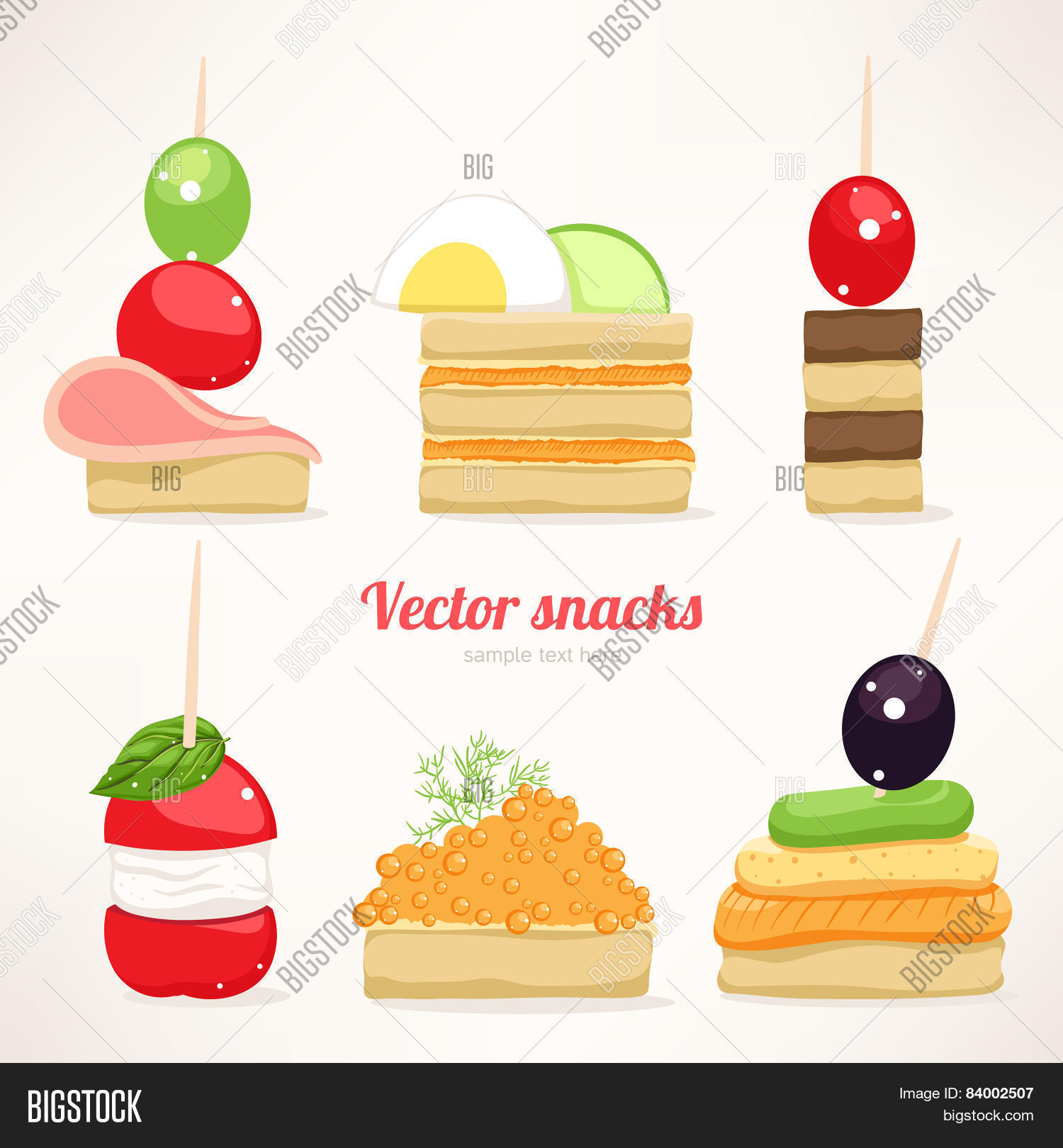 Festive canapes vector photo bigstock for Canape vector download