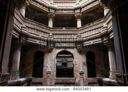 Ahmedabad India - December 25 2014: Adalaj Stepwell In Ahmedabad, Gujarat