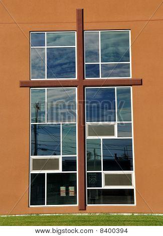 Ornate Church Cross and Window
