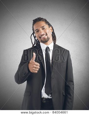 Businessman optimistic