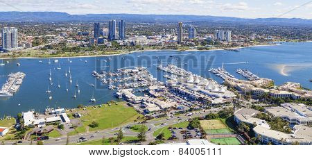 Broadwater With Marina And Southport