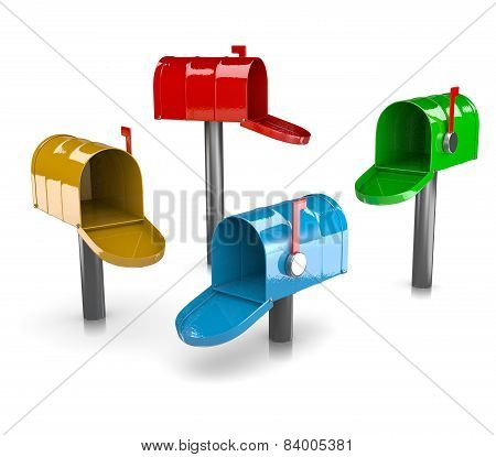 Colorful Mail Boxes Collection
