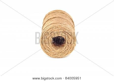 Ball Of String, On White Background