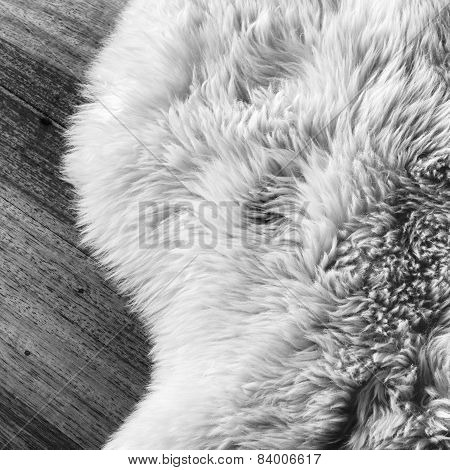 Sheepskin Black And White