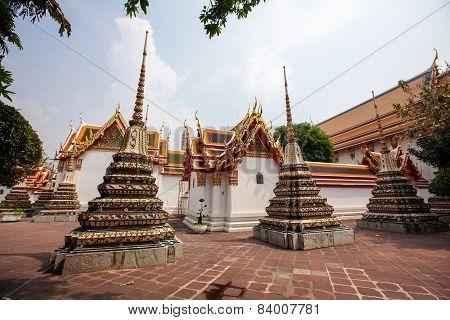 Buddhist temple Wat Pho in Bangkok Asia Thailand