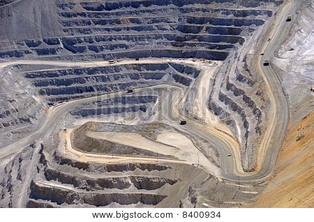 Close-up of Bingham Kennecott Copper Mine