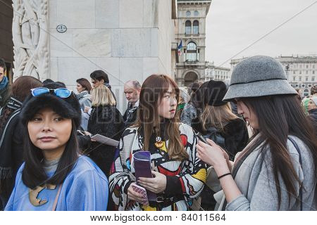 People Outside Gabriele Colangelo Fashion Show Building For Milan Women's Fashion Week 2015