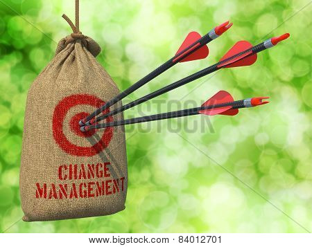 Change Management - Arrows Hit in Red Target.