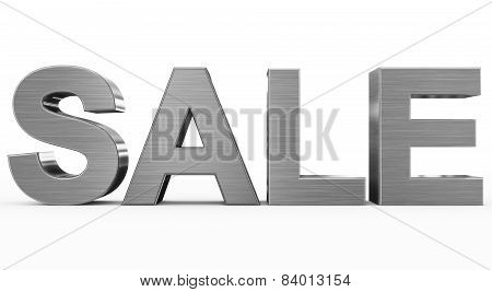 Sale Metal - 3D Letters Isolated On White