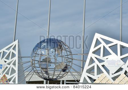 Globe sculpture in Sochi, Russian Federation