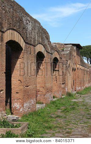 Ruins in Ostia Antica