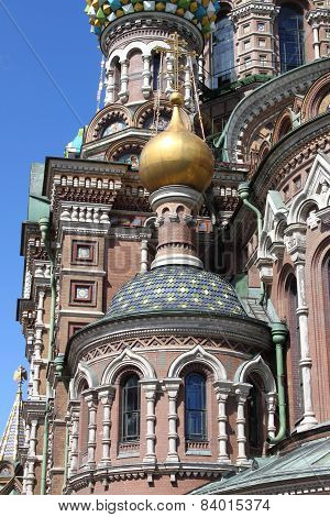 Closeup of the Church of the Saviour on Spilled Blood