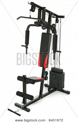 Black gym machine