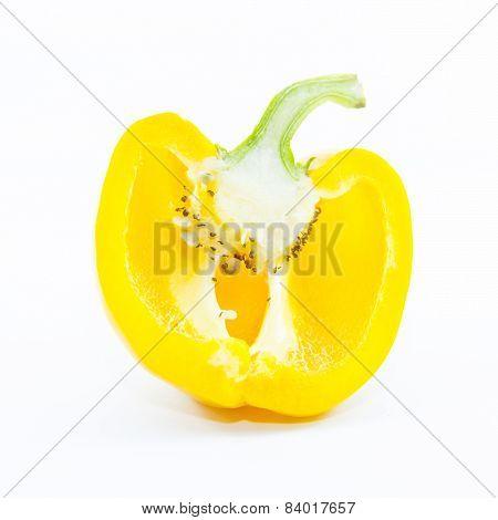 Section Fresh Yellow Chili Capsicum