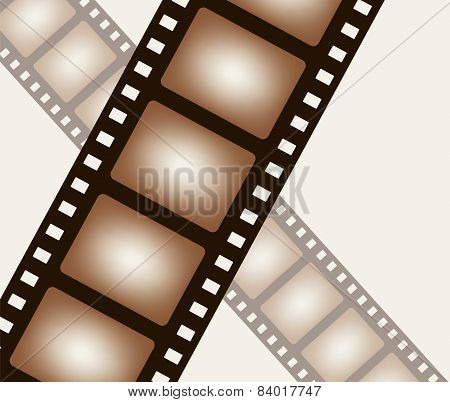 Background from negative film strip