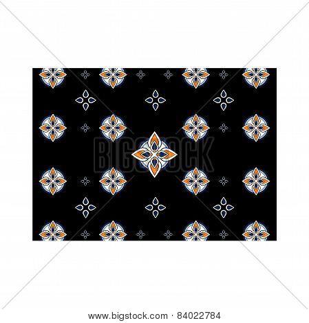 Pattern background black mosaic