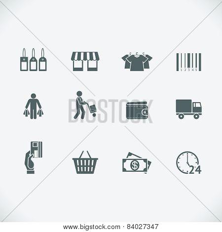 Modern shopping icon