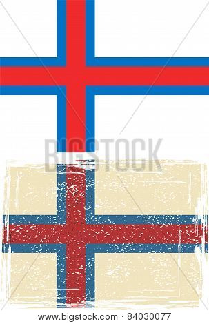 Faroe Islands grunge flag. Vector illustration
