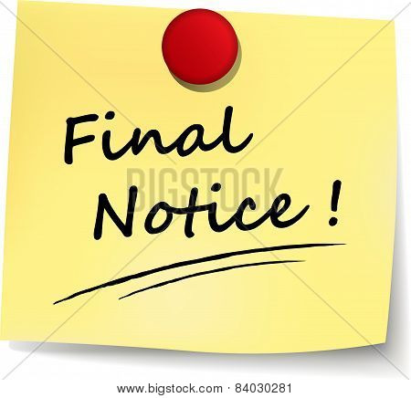 Final Notice Note
