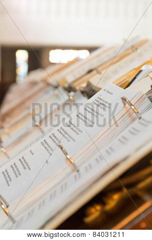 Catholic Hymnals In Chapel