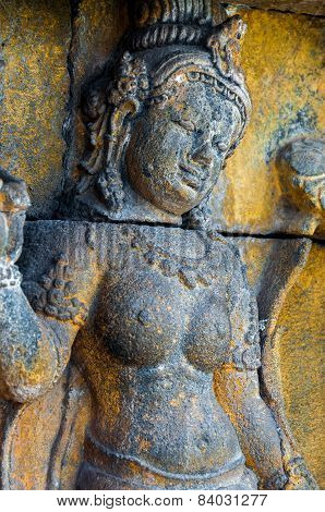 Buddha encarved in stone, Borobudur