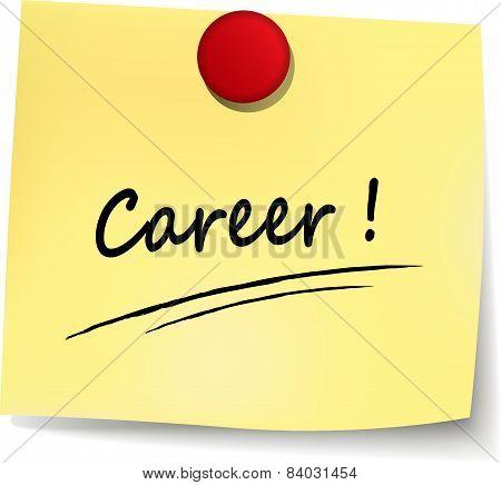 Career Yellow Note